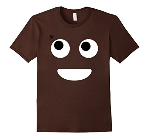 Men's Poop Emoji Face Funny Halloween T-Shirt (Fly) - Unisex Large Brown (The Fly Costume)