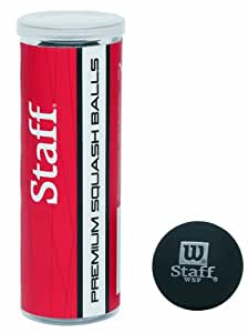 Wilson Sporting Goods Squash Ball with 3 Ball Tube