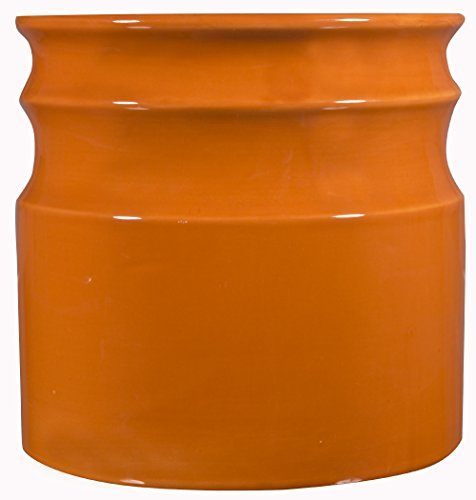 Home Essentials & Beyond 66378 7.5 D in. Turino Rings Utensil Crock - Orange (Utensil Crock Orange compare prices)