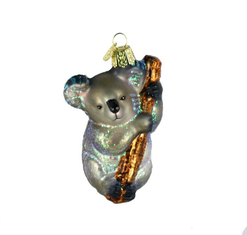 Old World Christmas Koala Bear Glass Blown Ornament