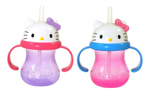 Munchkin 2 Count Character Cup, Hello Kitty, 8 Ounce