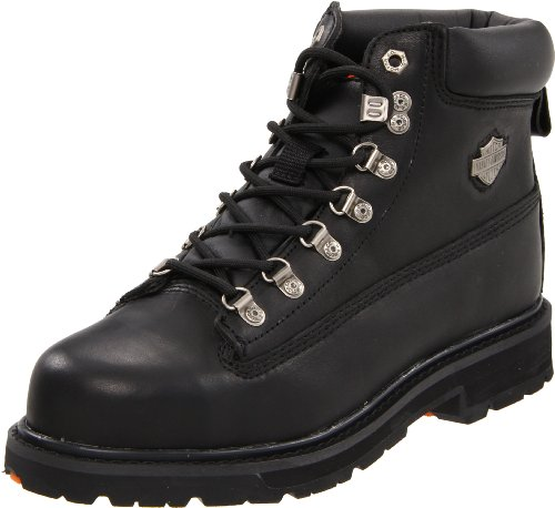 Harley-Davidson Men&#8217;s Drive Steel Toe Motorcycle Boot,Black,9.5 M US