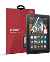 "iCarez® [HD Clear] Highest Quality Premium Screen Protector for Amazon Kindle fire HDX 8.9"" Tablet High Definition (HD) Ultra Crystal Clear & anti-bacterial & anti-Scratch & bubble-free & reduce fingerprint & No rainbow & washable Screen Protector **PET Film Made in Japan** Easy install & Green healthy Product with Lifetime Replacement Warranty [2 Pack] - Retail Packaging 2014"