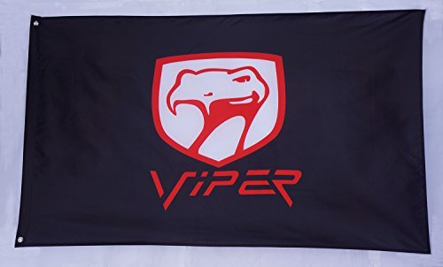 black-dodge-viper-flag-dodge-viper-banner-durable-polyester-banner-dodge-car-flags-3x5-ft