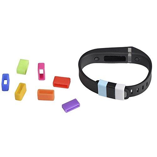 WayIn 10 pacchetti silicone Fastener Ring per Fitbit Flex Wristband Wrist Band Bracciale-Fissare il cadere problema Clasp - Proteggere il Wristband in Style (colore misto)