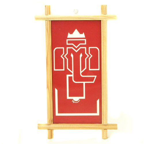 Wood Frame Abstract Ganesh Wall Hanging