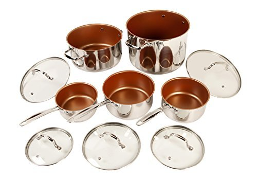 Nuwave DuralonTM Ceramic Non-stick Cookware 10-piece Set with Lids