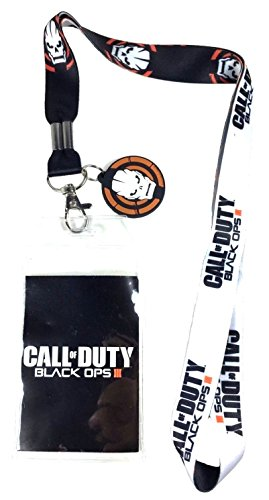 Call of Duty Black Ops III Reversible Keychain Lanyard with ID Holder and Rubber Charm (Advanced Warfare Key compare prices)