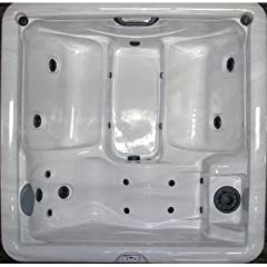 Home and Garden Spas 5-Person 19-Jet Hot Tub with 110V GFCI Plug, Mahogany by Great Escape Spas