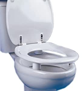 NRS Healthcare Dania 5 Cm 2 Inches Raised Toilet Seat With Cover