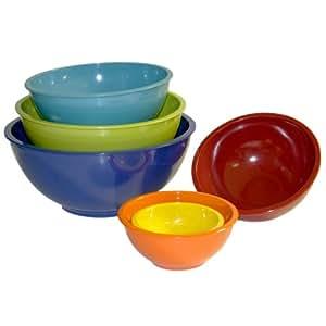 Trudeau Melamine Mixing Bowls, Set of 6