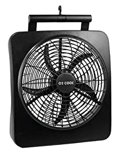 "O2-cool 1071 Battery/electric Fan 10"" With Adapter, Black"
