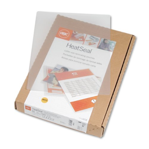 Swingline gbc ultraclear thermal laminating pouches for 10 mil laminating pouches letter size