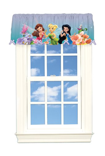 Disney Fairies Dew Drops And Sparkles Microfiber Valance