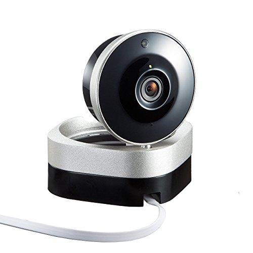 サンワダイレクト ネットワークカメラ iPhone スマホ 視聴対応 WiFiカメラ 720pHD画質 赤外線撮影 動体検知対応 400-CAM051
