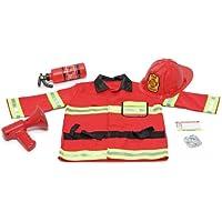 Melissa & Doug - 14834 - Déguisement - Costume de chef des pompiers