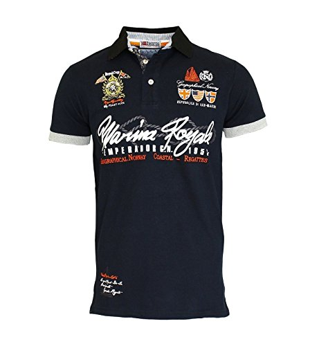 Geographical Norway -  Polo  - Uomo blu navy L