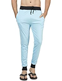 Clifton Men's Ribbed Slim Fit Track Pant - Light Blue