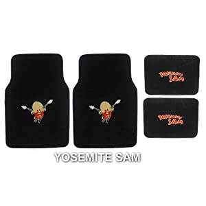4pc Looney Tunes Yosemite Sam Front And Rear Floor Mats