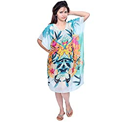 Etti Be Trendy Women's Sequined Beaded Kaftan (ES94_Multi_Free Size)