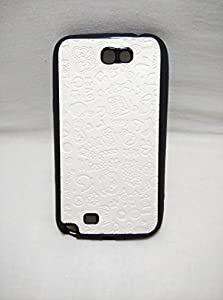 Iway Fancy ABCD Leather Finish Soft Back Cover for Samsung Galaxy Note 2 N 7100   CREAM available at Amazon for Rs.99