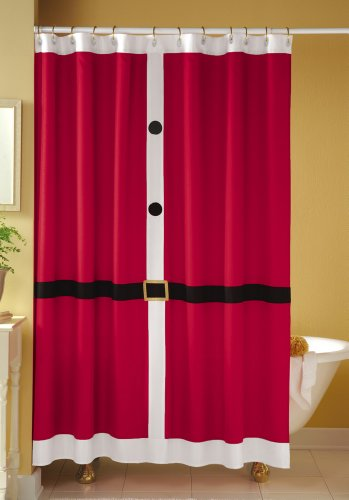 Santa Suit Shower Curtain By Collections Etc