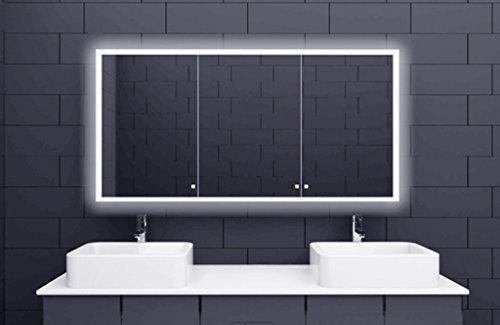 Fancy Bathroom Mirror with LED Lighting Acrylic lichtleitenden Stripes x x cm