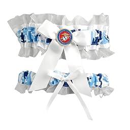 Jamie Lynn Digital Military Collection, Garter Set, Blue, Marines