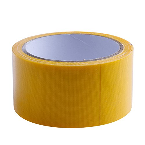 mexud-10m-x-50mm-waterproof-sticky-adhesive-cloth-duct-tape-roll-craft-repair-8-color-yellow
