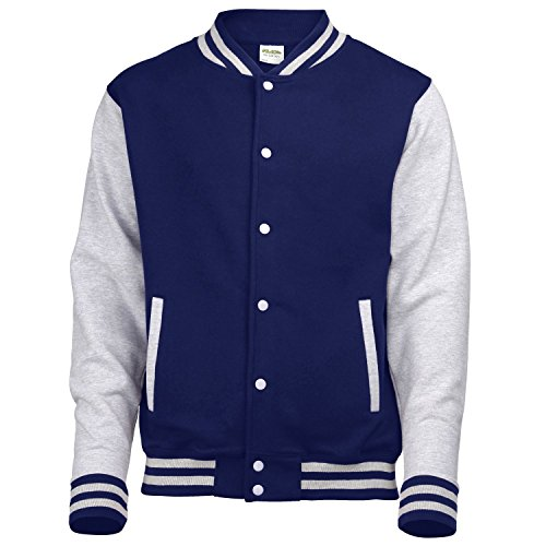 COLLEGE giacca bianca manica in black, red, blue, grey, navy, Viola, Rosa, Verde, vino XS S M L XL taglia XXL