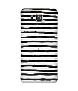 Black And White Stripes Samsung Galaxy Alpha Case