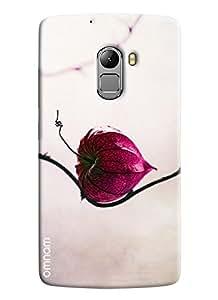Omnam Pink Flower Lying On Stem Printed Designer Back Case Lenovo K4 Note