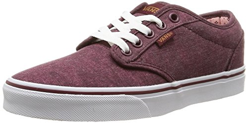 VansW Atwood Low - Stivaletti donna , Rosso (Red (washed Canvas/windsor Wine)), 34.5