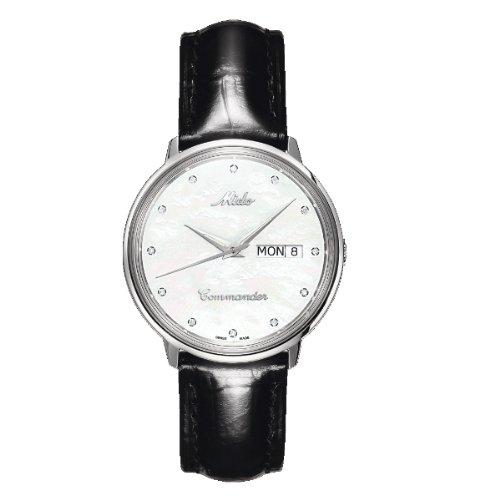 MIDO Belluna M841941941 - Reloj de mujer automático, correa de piel color negro