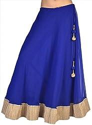 Ambitione Designer Women Blue colored Skirt_M