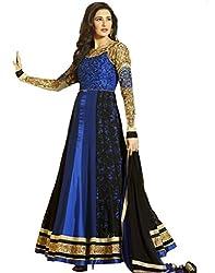 Kumud Kala Womens Faux Georgette Lace Anarkali Dress Material (Kkd2607 _Blue _X-Large)