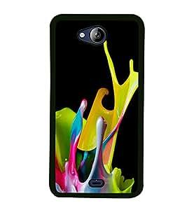 Paint Colours 2D Hard Polycarbonate Designer Back Case Cover for Micromax Canvas Play Q355