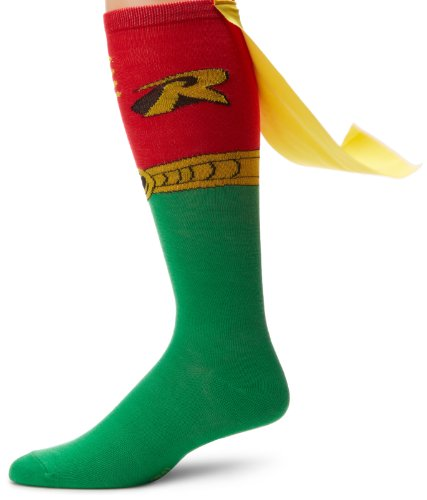Dc Comics Robin Juniors Knee High Cape Sock at Gotham City Store