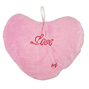 Amazon.com - Heart Shape Embroidered LOVE Changing LED Light Toss Throw Pillow Pink - Neck Pillows