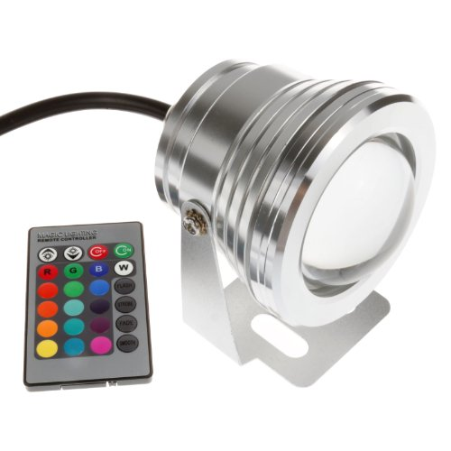 LEMONBEST® 10w 12v RGB Multi-color Ip67 LED Underwater Light Landscape Fountain Pond Lamp Bulb with Remote Control