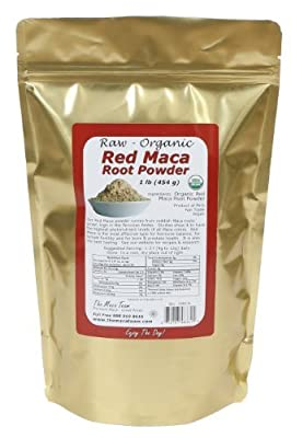 Raw Red Maca Root Powder - Certified Organic, Highest Nutrients Of All , Fresh Harvest From Peru, Organic, Fair Trade, Gmo-Free, Gluten Free Vegan And Raw, 50 Servings, 1 Lb. Pouch from The Maca Team, LLC