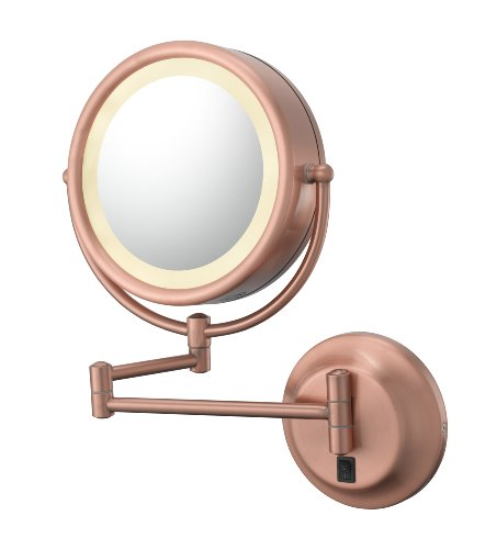 Kimball & Young Lighted Reversible 5X/1X Hardwired Makeup Mirror front-439262