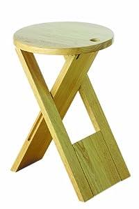 Premier housewares sgabello pieghevole in legno di albero for Sgabello bar pieghevole