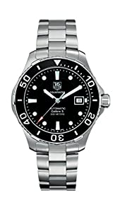 Tag Heuer Men's Aquaracer Calibre 5 Stainless Steel Black Dial Watch #WAN2110.BA0822
