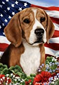 Beagle Dog - Tamara Burnett Patriotic I Garden Dog Breed Flag 12'' x 17''