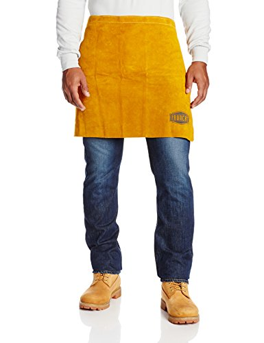 """West Chester 7012 Heat Resistant Leather Waist Apron, 24"""" Width x 18"""" Height, Tan"""