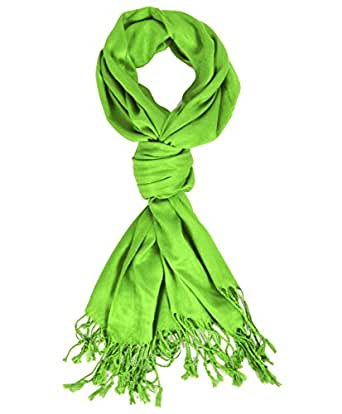 Hollywood Solid Pashmina Scarf (Apple Green)