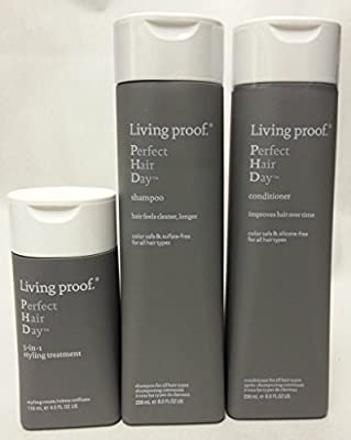 Living Proof Sulfate-Free Perfect Hair Day Shampoo 8 oz. Conditioner 8 oz. and 5-in-1 Styling Treatment 4