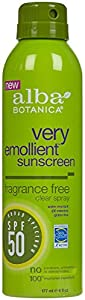 Alba Botanica Very Emolient Continuous Clear Spray Sunscreen SPF 50 - Fragrance Free