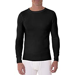 Dickies Men\'s Heavy Weight Work Thermal Long Sleeve Crew Top (X-Large (Chest 46\